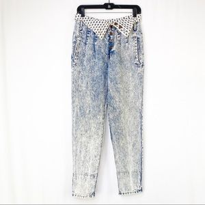 Vintage Traffic 80's Acid Wash Parachute Jeans